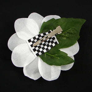 Cats Like Us White Sequin Hair Flower for sale at Cats Like Us - 2