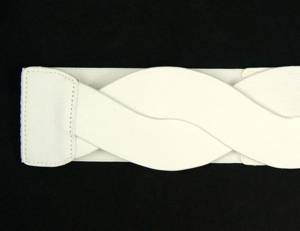 Cats Like Us White Swirl Cinch Belt for sale at Cats Like Us - 2