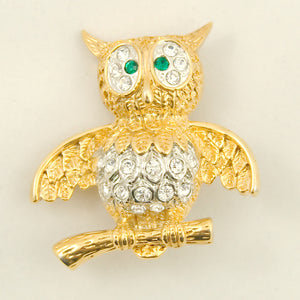 Cats Like Us Whoot Me Owl Brooch Pin for sale at Cats Like Us - 1