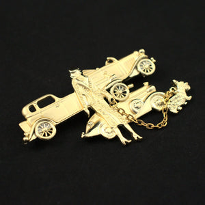 Woman and Her Cars Brooch