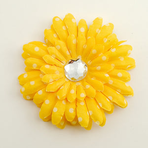 Cats Like Us Yellow Dot Daisy Hair Flower for sale at Cats Like Us - 1
