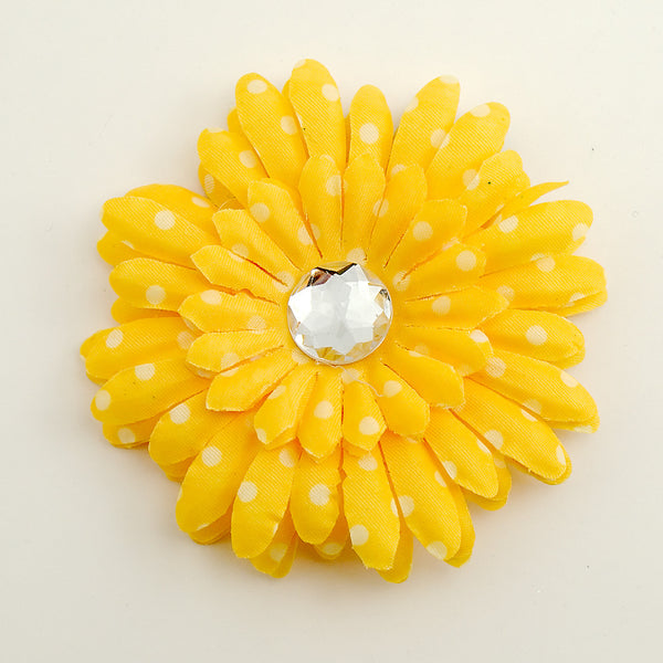 Yellow Dot Daisy Hair Flower