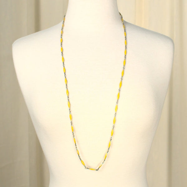 Yellow Enamel Necklace