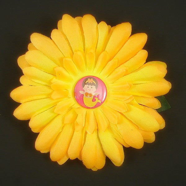 Yellow Mermaid Button Daisy by Cats Like Us