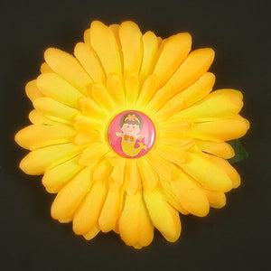 Yellow Mermaid Button Daisy - Cats Like Us
