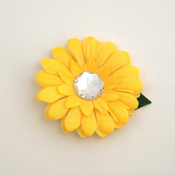 Cats Like Us Yellow Mini Bling Daisy Flower for sale at Cats Like Us - 4