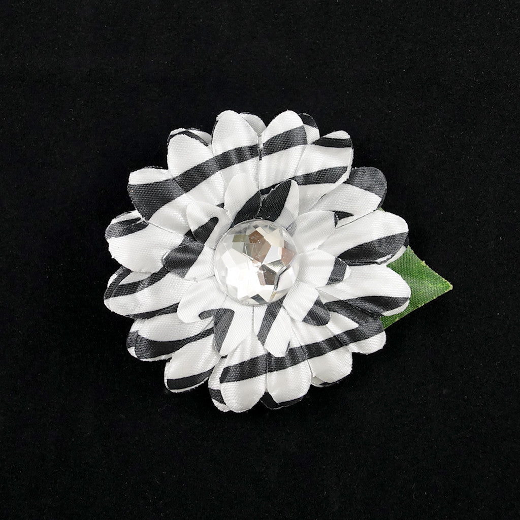 Zebra Mini Bling Daisy Flower by Cats Like Us : Cats Like Us