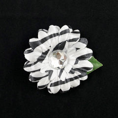 Zebra Mini Bling Daisy Flower