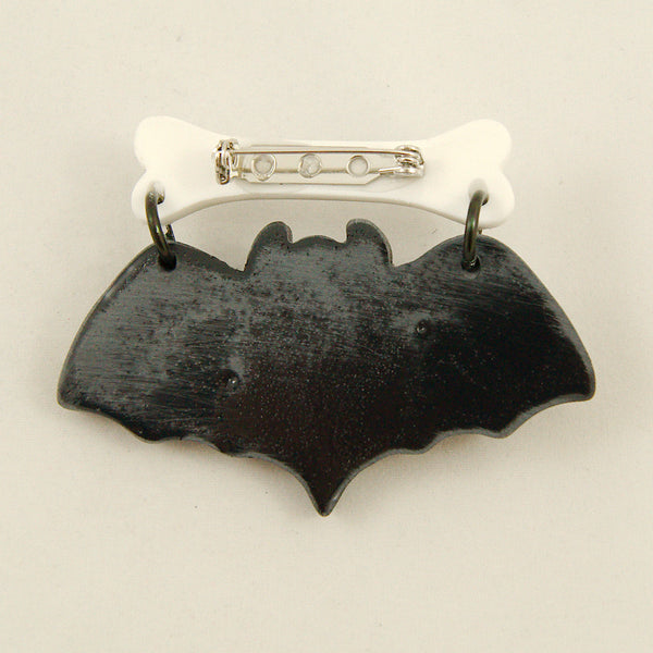 Black Baby Bat Brooch - Cats Like Us