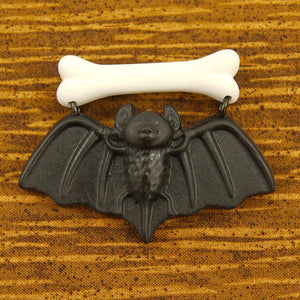 Black Baby Bat Brooch by Charcoal Designs - Cats Like Us