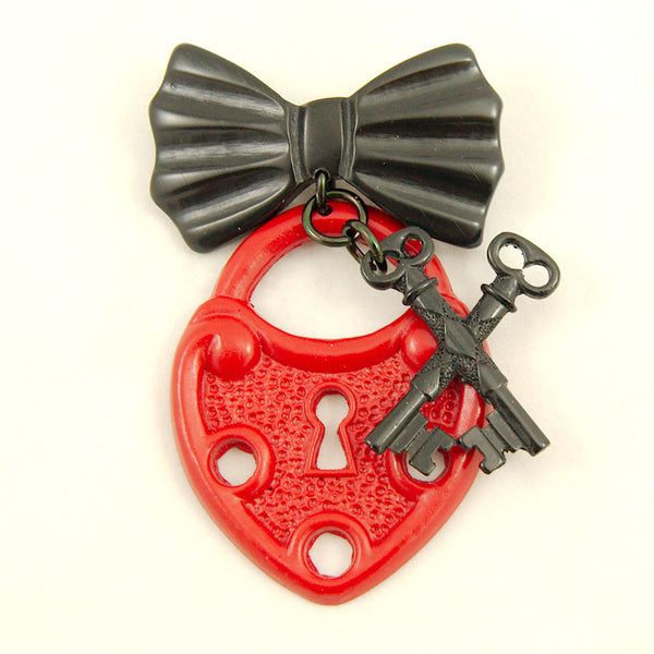 Cross My Heart Brooch Pin by Charcoal Designs : Cats Like Us