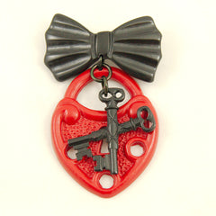 Cross My Heart Brooch Pin