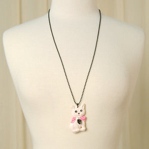 Charcoal Designs White Retro Cat Jewelry Set for sale at Cats Like Us - 2