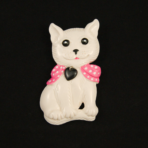 Charcoal Designs White Retro Cat Jewelry Set for sale at Cats Like Us - 6