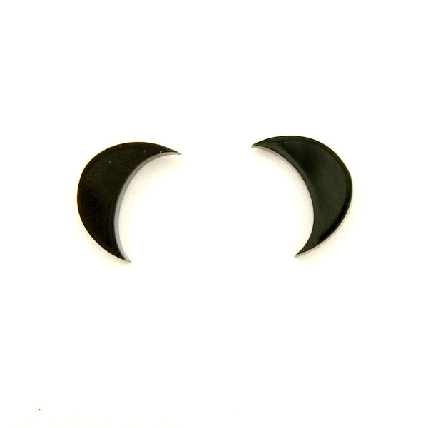 Crescent Moon Stud Earrings by Cherry Loco : Cats Like Us