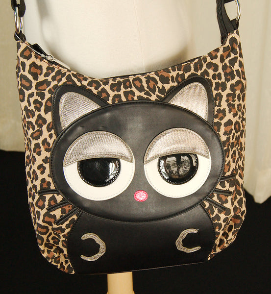 Black Cat Leopard Crossbody Bag by Comeco Inc : Cats Like Us