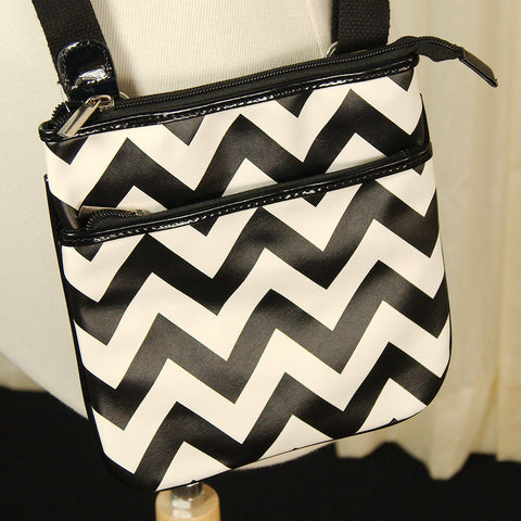 Chevron Crossbody Bag - Cats Like Us