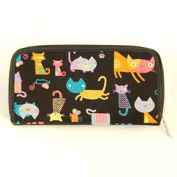 Colorful Kitty Cats Wallet - Cats Like Us