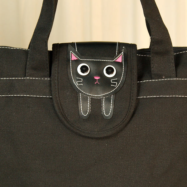 Hungry Black Kitty Cat Totebag - Cats Like Us