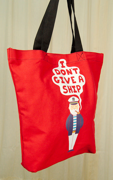 I Don't Give a Ship Totebag - Cats Like Us