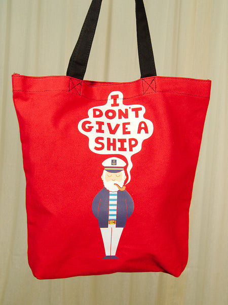 I Don't Give a Ship Totebag by Comeco Inc : Cats Like Us