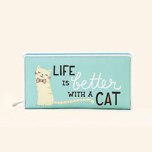 Life is Better with Cats Wallet by Comeco Inc : Cats Like Us