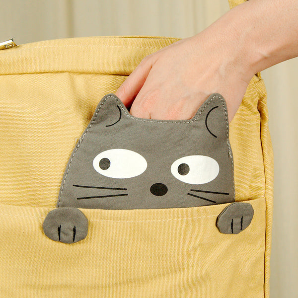 Comeco Inc Peeking Gray Cat Crossbody Bag for sale at Cats Like Us - 2