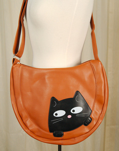 Comeco Inc Peeking Kitty Hobo Handbag for sale at Cats Like Us - 3