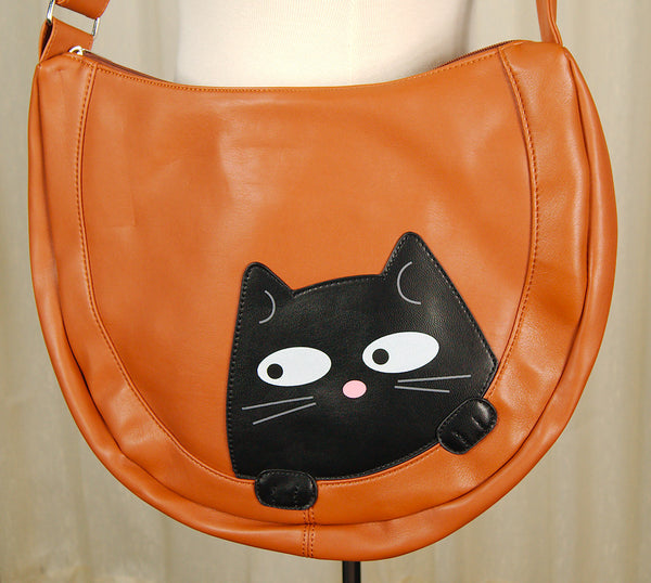 Peeking Kitty Hobo Handbag by Comeco Inc : Cats Like Us