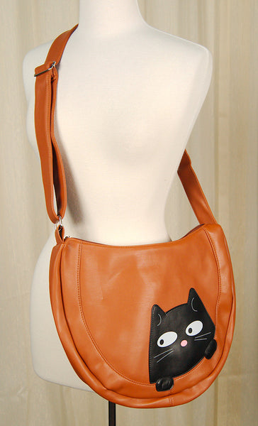 Comeco Inc Peeking Kitty Hobo Handbag for sale at Cats Like Us - 5