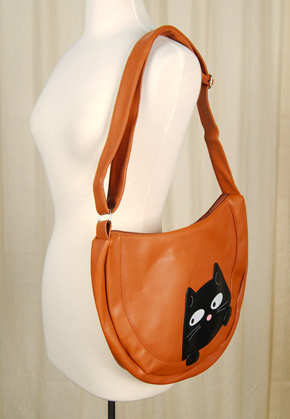 Peeking Kitty Hobo Handbag