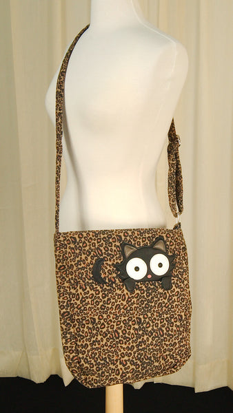 Comeco Inc Peeping Kitty Crossbody Bag for sale at Cats Like Us - 4
