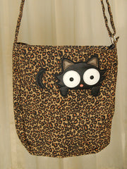 Peeping Kitty Crossbody Bag