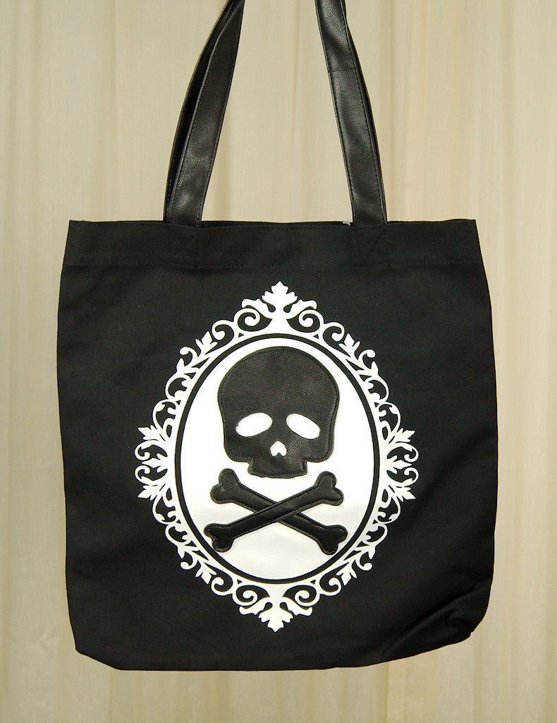 Skull Cameo Totebag by Comeco Inc : Cats Like Us