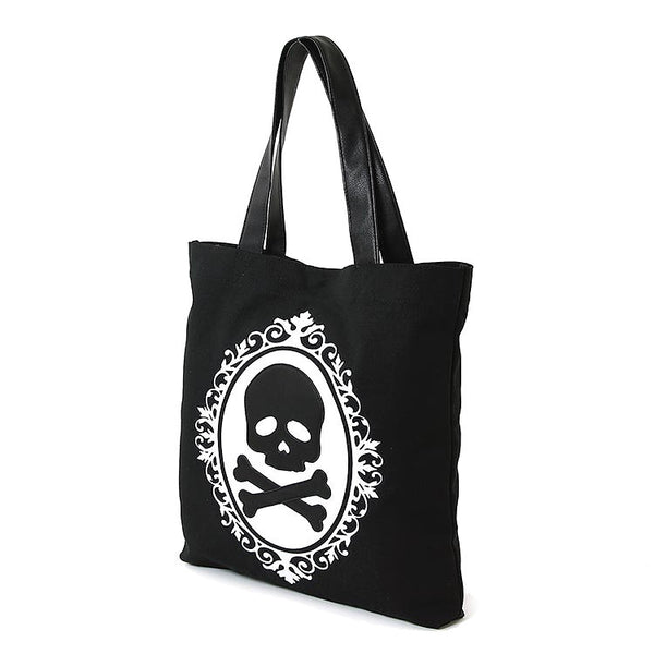 Comeco Inc Skull Cameo Totebag for sale at Cats Like Us - 4