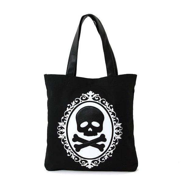 Comeco Inc Skull Cameo Totebag for sale at Cats Like Us - 3