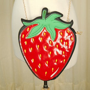 Strawberry Crossbody Bag - Cats Like Us