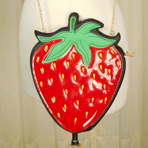 Strawberry Crossbody Bag by Comeco Inc : Cats Like Us