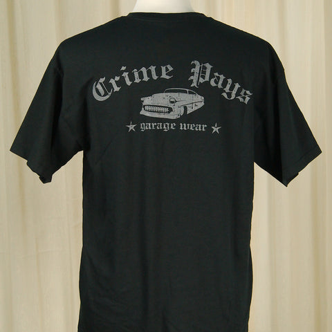 Crime Pays Garage Wear Crime Pays Chopped 54 T Shirt for sale at Cats Like Us - 1