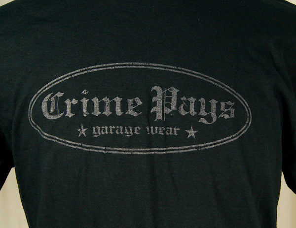 Crime Pays Garage Wear Crime Pays Logo T Shirt for sale at Cats Like Us - 3
