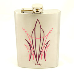 Pink CP Pinstriped Flask
