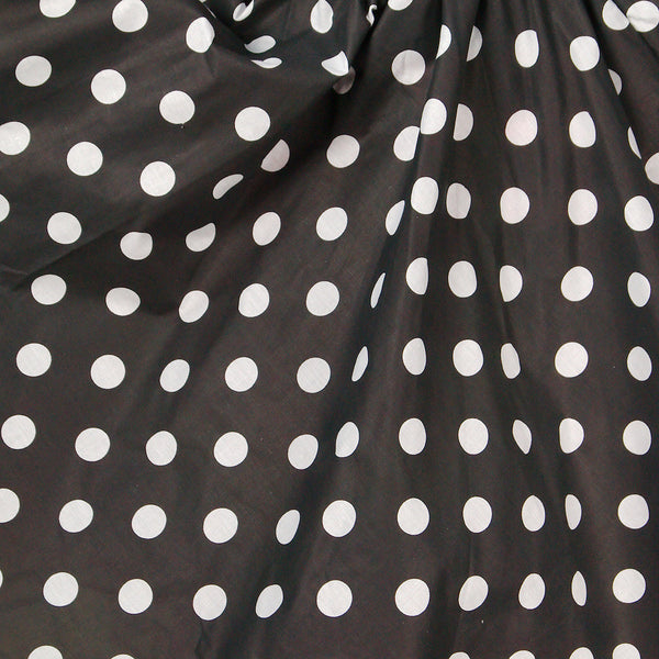 Black & White Dot Circle Skirt - Cats Like Us