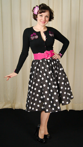 Black & White Dot Circle Skirt by Cruisin USA : Cats Like Us