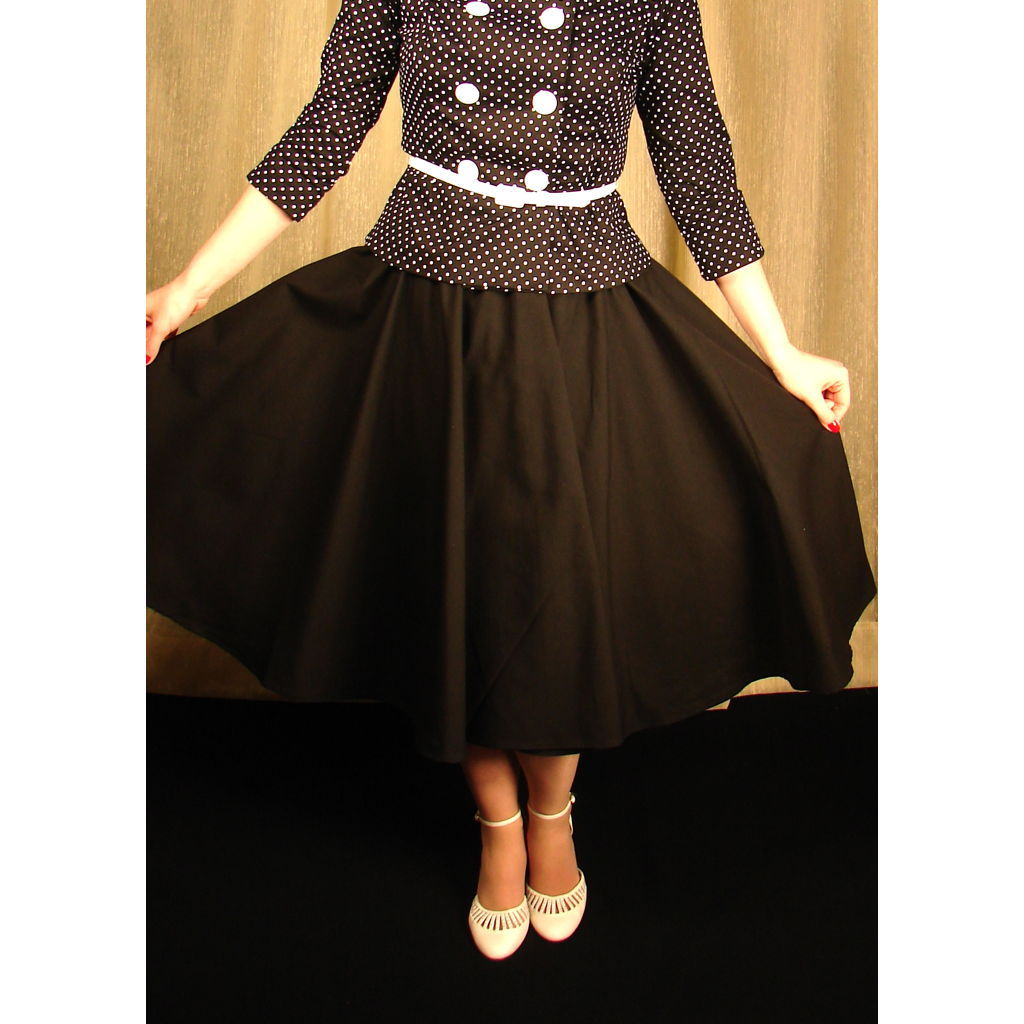 Black Full Circle Skirt by Cruisin USA : Cats Like Us