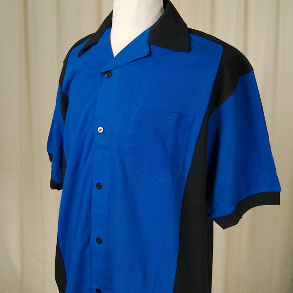 Blue Hilton Deuce Bowling Shirt by Cruisin USA : Cats Like Us