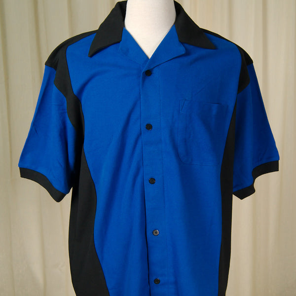 Blue Hilton Deuce Bowling Shirt - Cats Like Us
