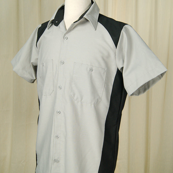 Garren Grey Bowling Shirt by Cruisin USA : Cats Like Us
