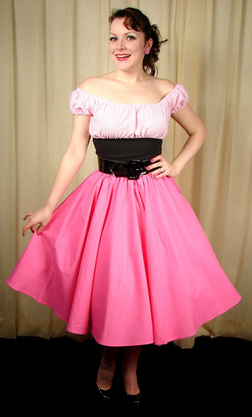 Cruisin USA Pink Full Circle Skirt for sale at Cats Like Us - 2