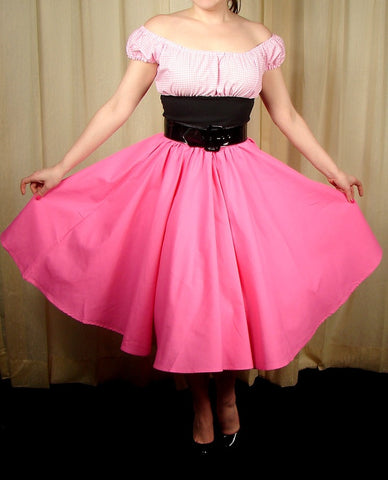 Pink Full Circle Skirt by Cruisin USA : Cats Like Us