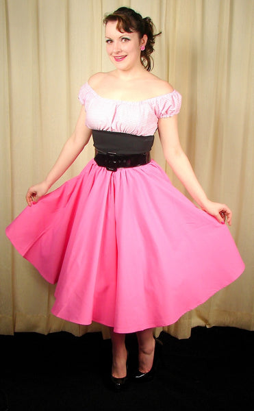 Cruisin USA Pink Full Circle Skirt for sale at Cats Like Us - 4